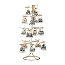 4' Gold Metal Christmas Ornament Display Tree with Star and Scrolled  Branches