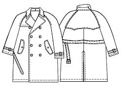 Trench Coat Pattern Mesmerizing Trench Coat Sewing Pattern 48 Madetomeasure Sewing Pattern
