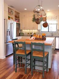 white country kitchen with butcher block. Painting Kitchen Islands Pictures Ideas Tips From Hgtv White Country With Island Butcher Block C