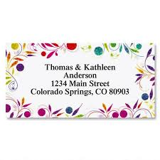 Labels With Border Color Swirl Border Address Labels