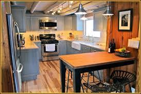 cabin kitchen design. 5 Reasons To Choose Rustic Cabin Kitchens : Modern Kitchen Design With Gray U Shaped E