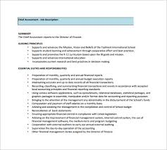 12 Accountant Job Description Templates Free Sample