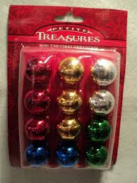 details about kurt s adler petite treasures mini glass ball ornament set multi set of 12