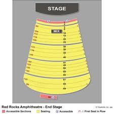 Red Rock Amphitheater Seating Chart Las Vegas Red Rocks Seating Chart With Numbers Red Rocks Seats Red