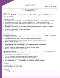 Resume Example For Medical Assistant Resume Examples Medical ...