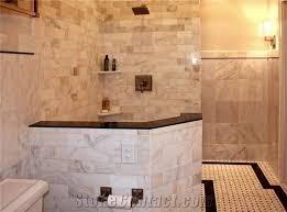 bianco carrara marble tile shower floor bianco carrara white marble bath design