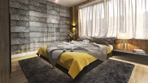 Bedroom:Sexy Gray And Yellow Bedding Set Idea And Unique Bedroom Wall Art  Design Wonderful