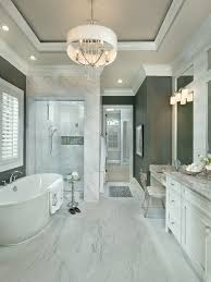 Large transitional master white tile and porcelain tile porcelain floor and  white floor bathroom idea in