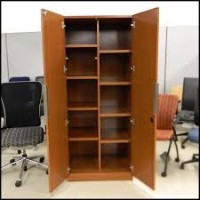 wooden office storage. Used Geiger Cherry Wood Veneer Storage Cabinets Wooden Office E