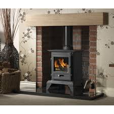 brick around free standing cast iron fireplaces gallery classic 5 cleanburn