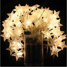 details about 20 30 40 50 led star pendant battery warm white party xmas fairy string lights