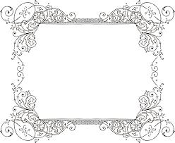 free vintage white frames clipart 1
