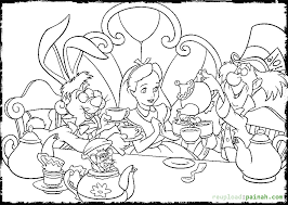 Small Picture Alice in Wonderland Coloring Pages Party Coloring Pages