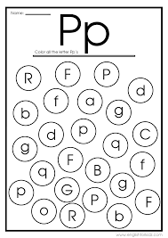 Each one correlates the 26 letters of the english alphanet. Letter P Worksheets Flash Cards Coloring Pages