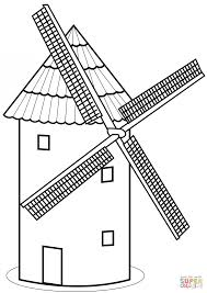 Small Picture Coloring Pages Tower Mill Coloring Page Free Printable Coloring