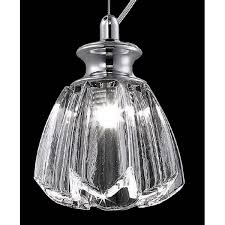 tulip shaped carved glass mini pendant light with in built led