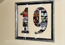 diy photo collage numbers tempting thyme