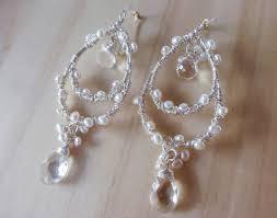 the swan earrings silver pearl chandelier earrings