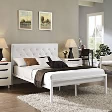 Mia Bedroom Furniture Mia Vinyl Bed Frame Multiple Colors Sizes By Modway