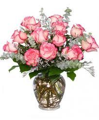 a dazzling dozen bi colored roses