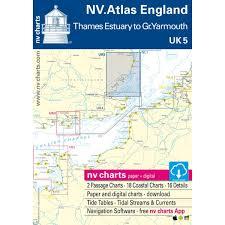 Nv Charts App Nv Charts Uk 5 Nv Atlas England R Thames To Great