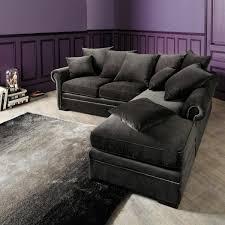 gray velvet sectional. Unique Sectional Sectional Corner Sofa In Grey Velvet Throughout Gray