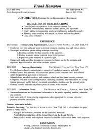 Resume Sample Customer Service Receptionist Ready Made Resume