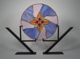 Art Glass Display Stands Metal Art Glass Display Stand Clarity Glass 2