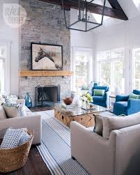 Modern Cottage Living Room House Tour Modern Nautical Style Cottage House Tours