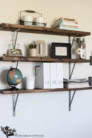 office wall shelves. Farmhouse Flair Diy Wood Storage Shelf How To Office Wall Shelves S