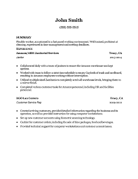 Janitor Resume Objective 2 Page Resumesmedical Professional