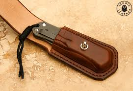 chris reeve knives sebenza leather pouch