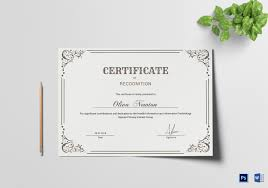 Certificate Recognition Emergency Manager Recognition Certificate Template