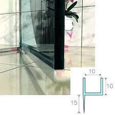 shower sealer strip plastic screen door water seal lining for glass sealing guard
