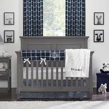 modern farmhouse baby bedding navy