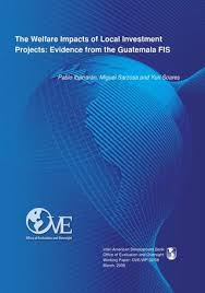 The Welfare Impacts Of Local Investment Projects Evidence