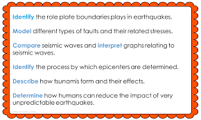 Earthquake is a natural disaster that occurs due to the movement of the tectonic plates. Earthquakes Lesson Plan A Complete Science Lesson Using The 5e Method Of Instruction Kesler Science