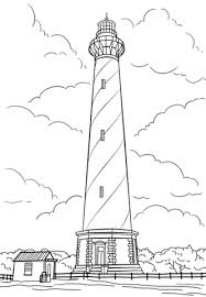 Small Picture Cape Hatteras Lighthouse North Carolina coloring page Free