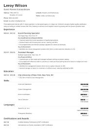 Event Planner Coordinator Resume Sample Guide