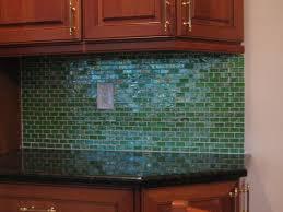 Minimalist Kitchen Design Using Dark Green Kitchen Backsplash Glass Dark  Mosaic Kitchen Countertop Solid Brown Wooden Kitchen Cabinets Storage  Modern ...