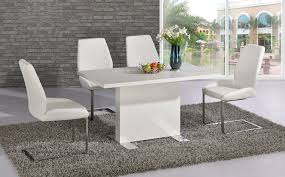 white dining room table. White High Gloss Dining Room Table And 4 Chairs Set I