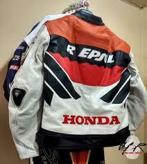 honda gas repsol motorbike leather jacket previous