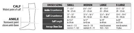 Legacy Graduated Compression Socks Size Chart Legend Compression Wear Compression Socks Leg Sleeves