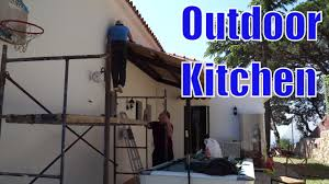 building an outdoor kitchen shed
