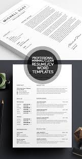 Best Resume Templates Simple 40 Best Minimal Resume Templates Design Graphic Design Junction