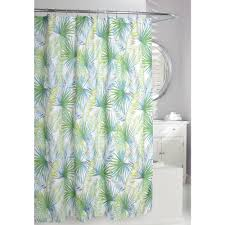 palm tree 71 in green and taupe fabric shower curtain
