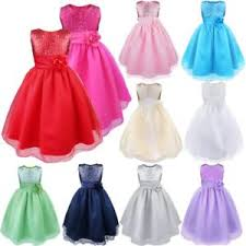 Girls <b>Baby Sequin Flower</b> Tutu <b>Dress</b> Party Bridesmaid Princess ...