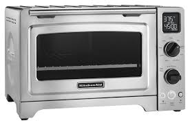 kitchenaid kco273ss countertop convection toaster pizza oven stainless steel angle