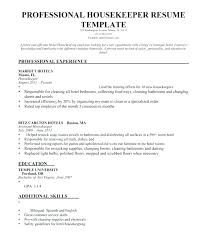 Housekeeping Resume Unique Housekeeper Resumes Housekeeper Resume Sample Executive Housekeeper