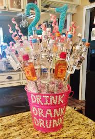 birthday present for best friend unique 21st alcohol bouquet i made for my best friend diy